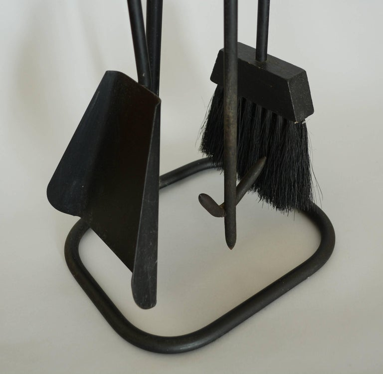 American Modernist Iron Fireplace Tools For Sale
