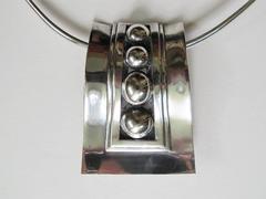 Sterling Pendant - Brooch by Mexican Modernist Jeweler Rafael Melendez