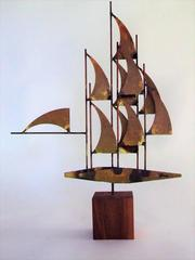 Abstract Mid Century Table Sculpture by William Bowie