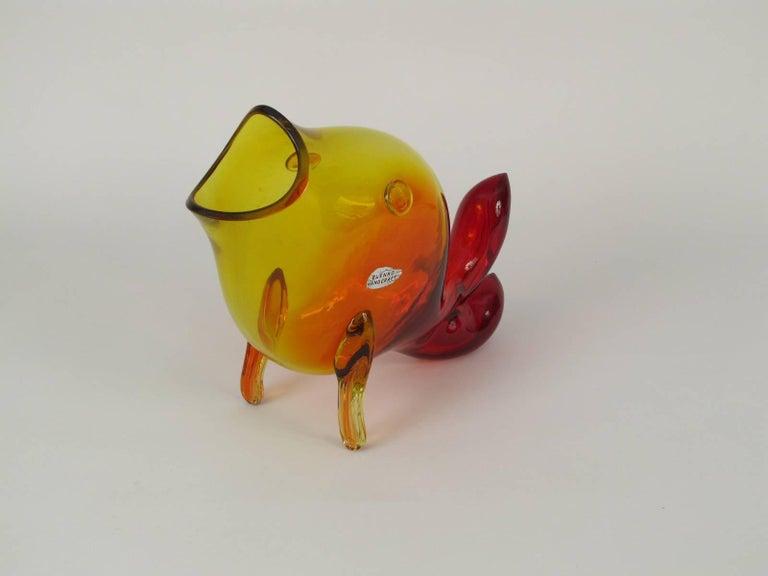 Winslow Anderson Design Blenko Amberina Fish Vase 3