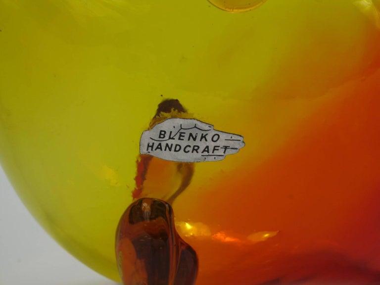 Winslow Anderson Design Blenko Amberina Fish Vase 2