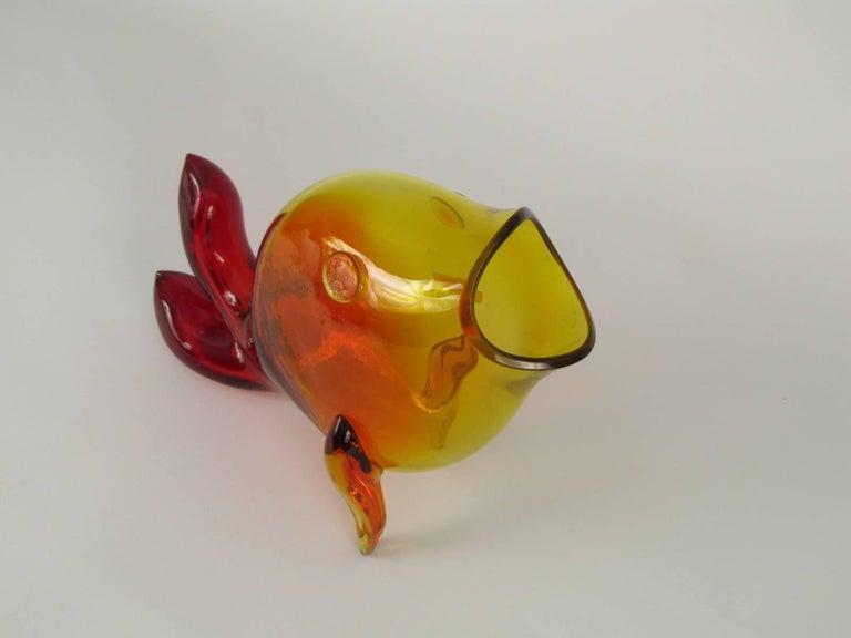 Winslow Anderson Design Blenko Amberina Fish Vase 5