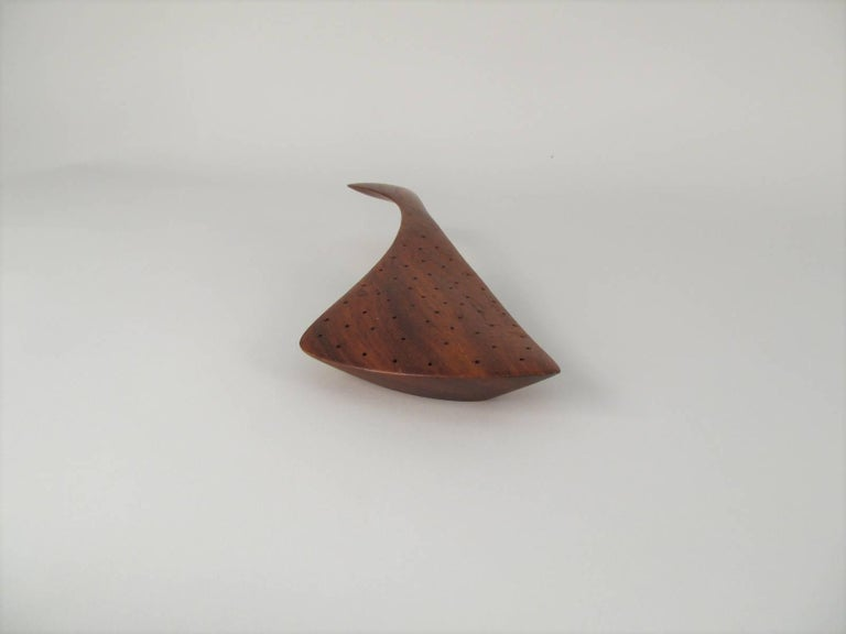 Sculptural Carved Padouk Wood Hors d'Oeuvres Server by Emil Milan 9