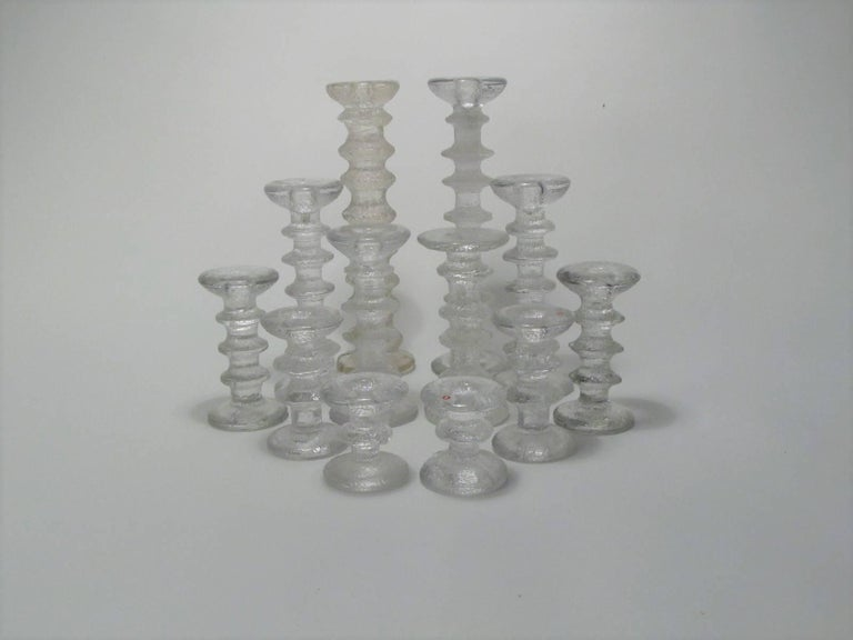 12 Piece Collection of Iittala Festivo Candlesticks by Timo Sarpaneva 3