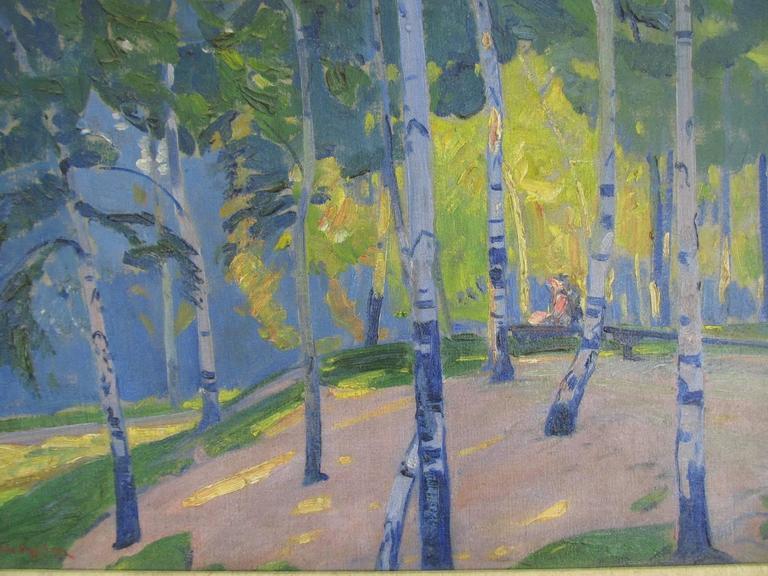Landscape Oil on Canvas by Henry George Keller 2