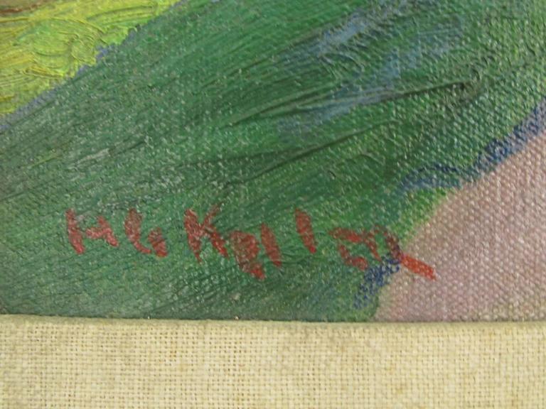 Landscape Oil on Canvas by Henry George Keller 3