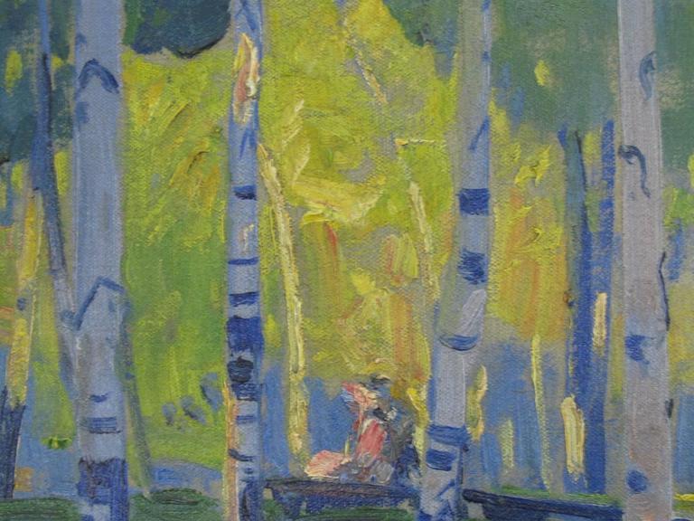 Landscape Oil on Canvas by Henry George Keller 5