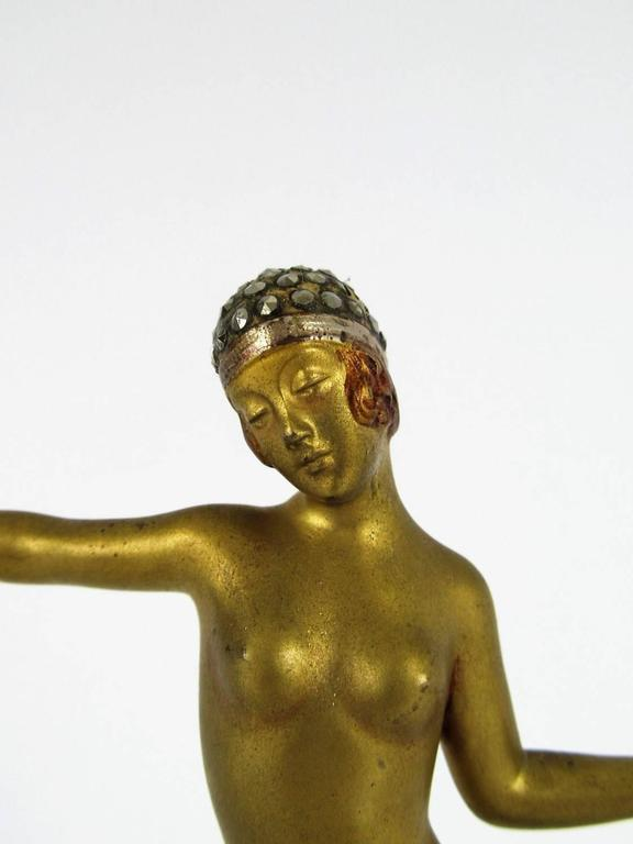Art Deco Bronze Dancer Figure by Dorothea Charol 2