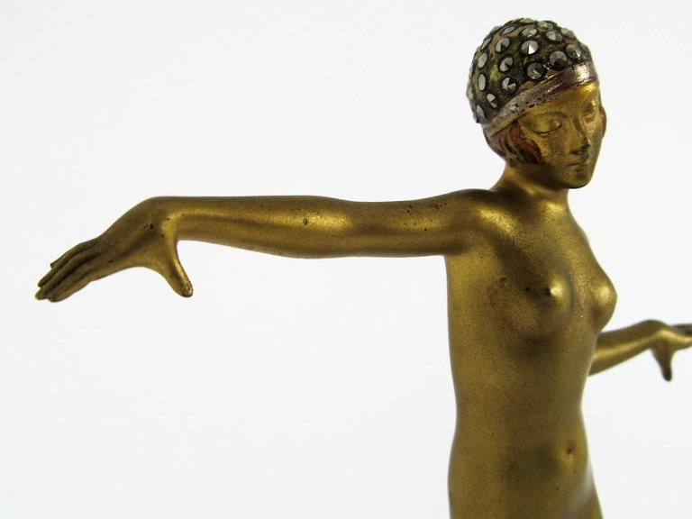 Art Deco Bronze Dancer Figure by Dorothea Charol 3