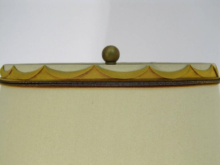 All Original Marbro Japanese Chrysanthemum Bronze Lamp 4