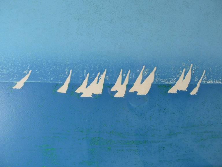 """Sunday Sail"" Signed and Numbered Print by Hawaiian Artist Louis Pohl 3"