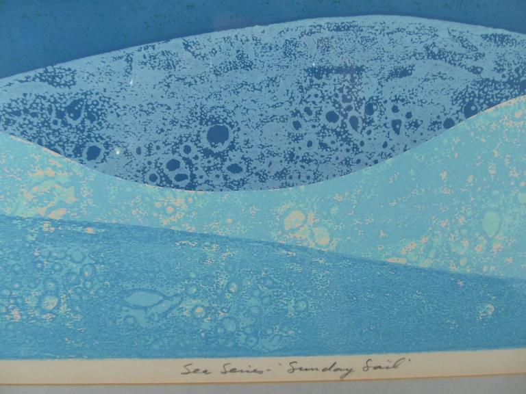 """Sunday Sail"" Signed and Numbered Print by Hawaiian Artist Louis Pohl 4"