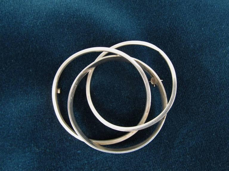 Modernist Sterling Circles Pin by Bill Tendler 4