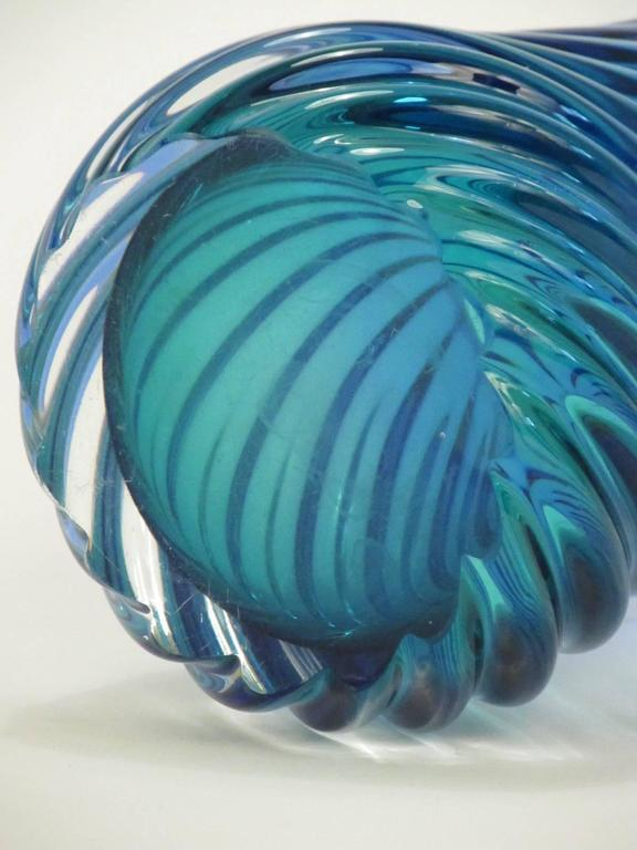 Murano Glass Twisted Sommerso Vase 4