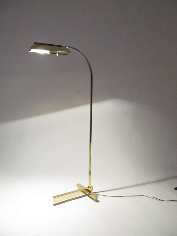 Solid Brass Casella Lighting Architectural Floor Reading Lamp 9
