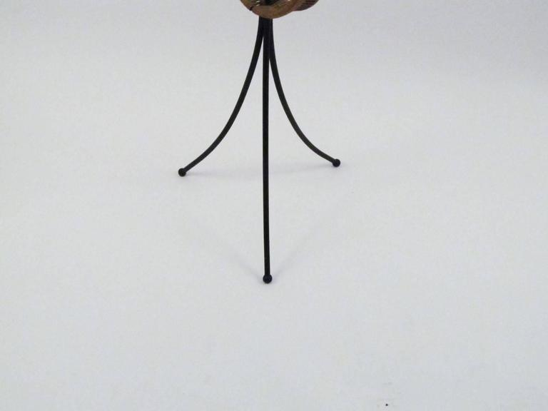 Arthur Umanoff Iron and Wicker Floor Candelabra 4