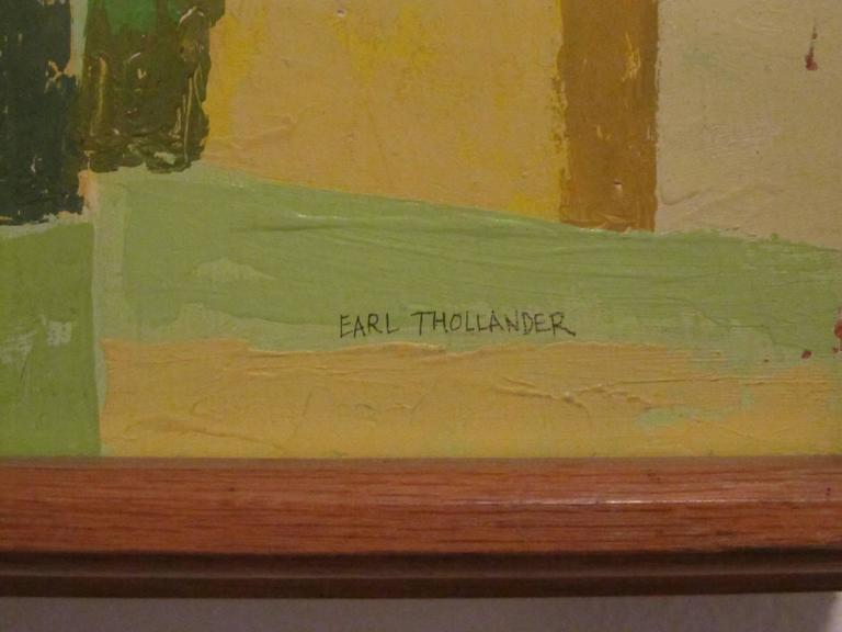 "Signed Original Painting ""Kailua Coconut Grove"" by Earl Thollander 3"