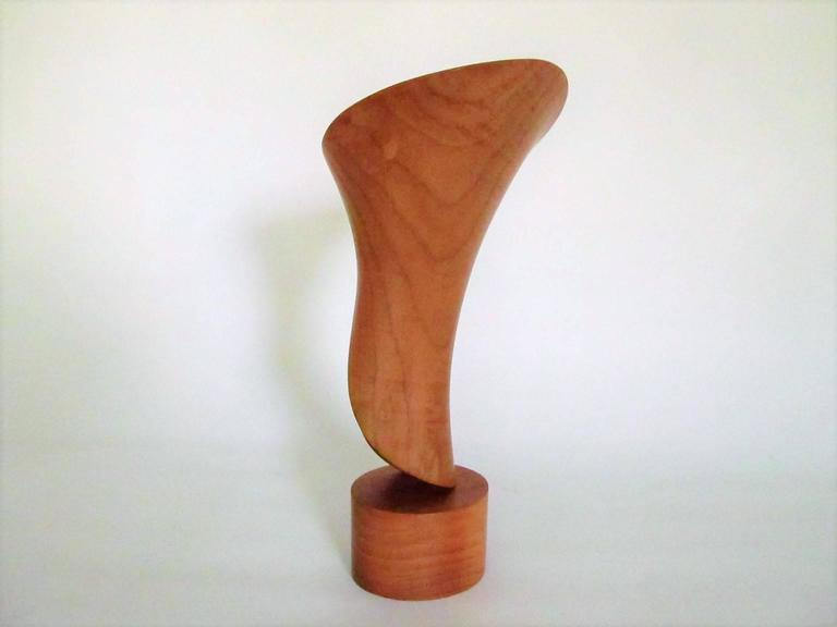"""""""Moonflower"""" Hand-Carved Wood Sculpture by John McAbery, 1999 6"""