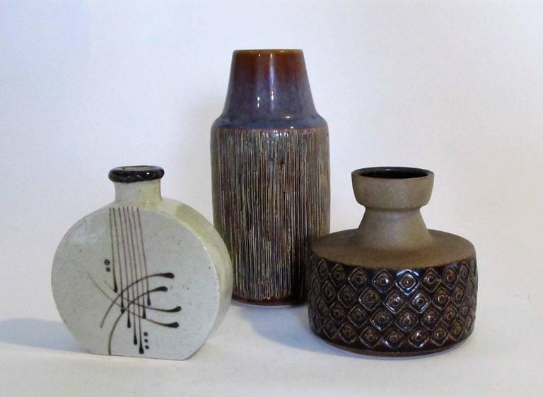 Three-Piece Collection of Danish Mid-Century Art Pottery 7