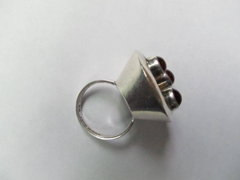 Sterling and Tourmaline Ring by Brazilian Modernist Jeweler Haraldo Burle-Marx 2