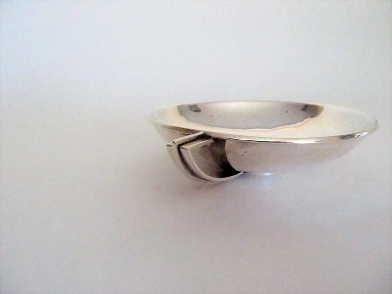 Hans Hansen Art Deco Sterling Silver Bowl, Denmark, 1934 3