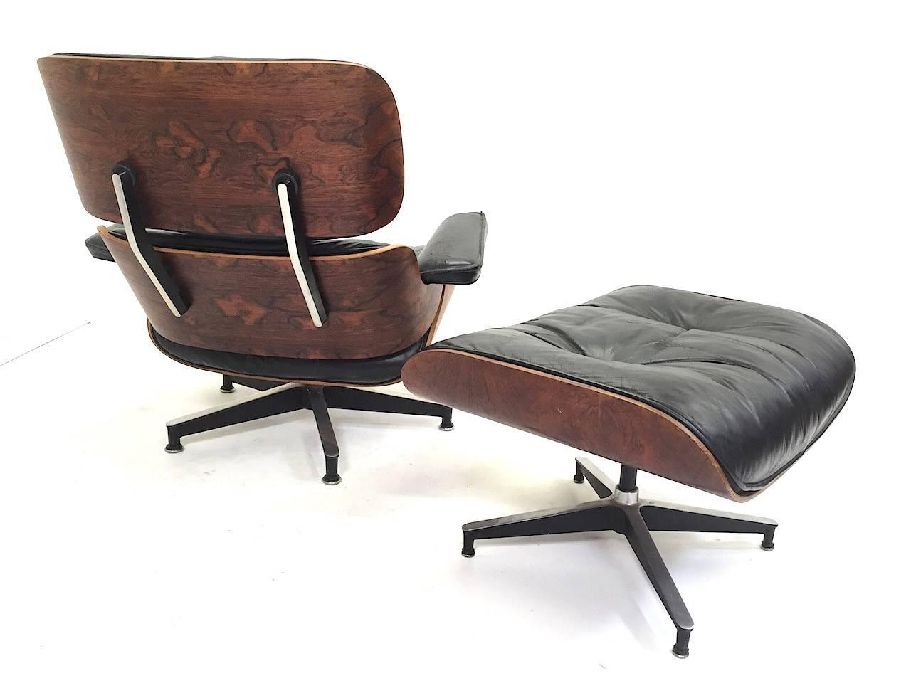 1st year production herman miller eames rosewood lounge - Herman miller lounge chair and ottoman ...