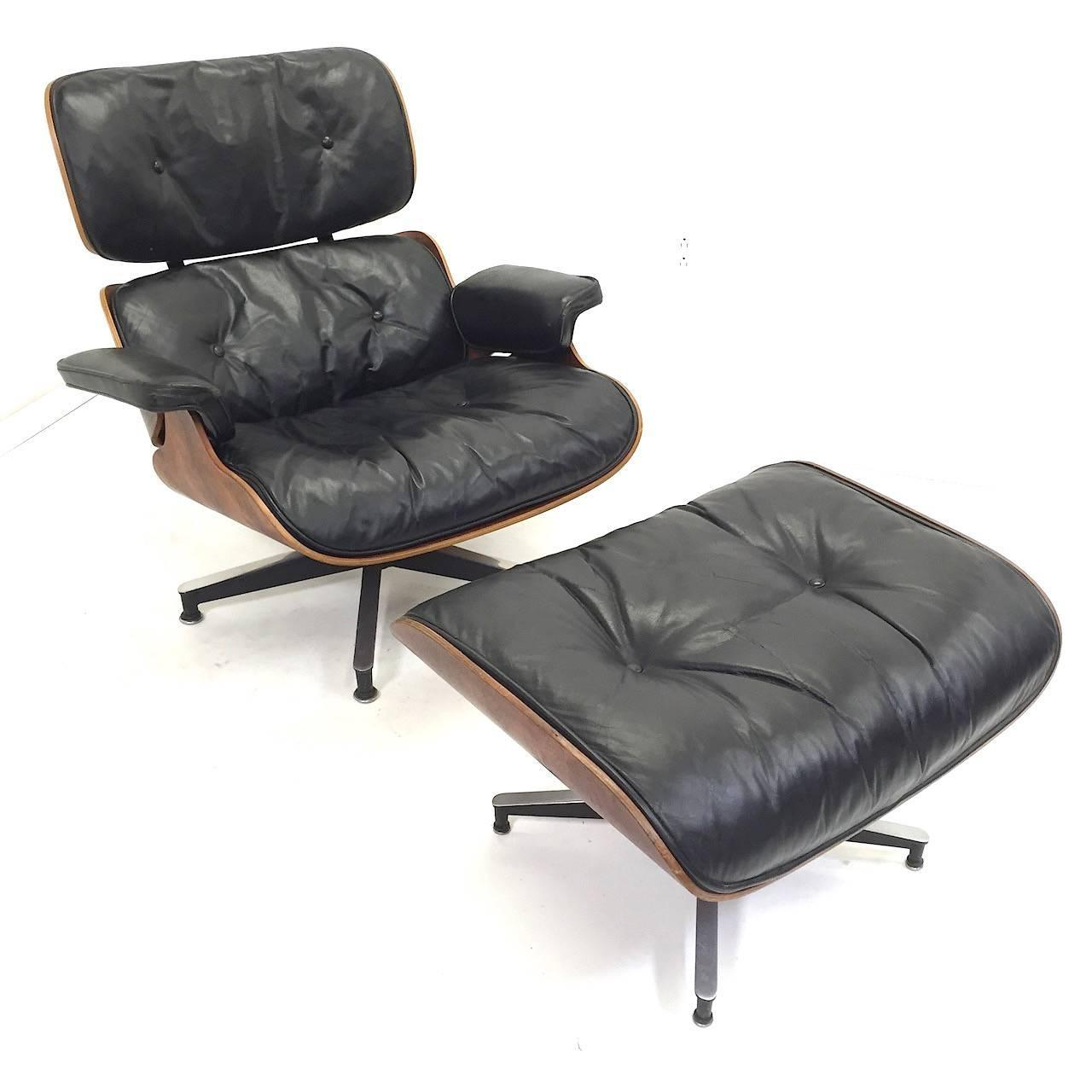 1st year production herman miller eames rosewood lounge - Herman miller eames lounge chair and ottoman ...