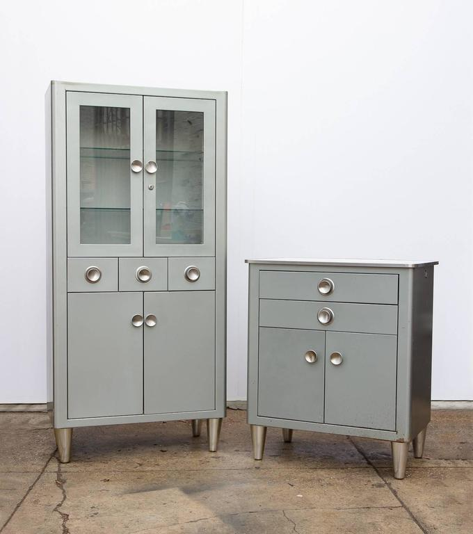 Small Modern Industrial Storage Cabinet For Sale 1