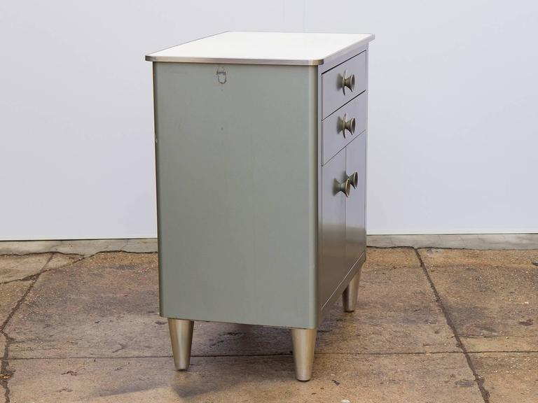 Mid-20th Century Small Modern Industrial Storage Cabinet For Sale