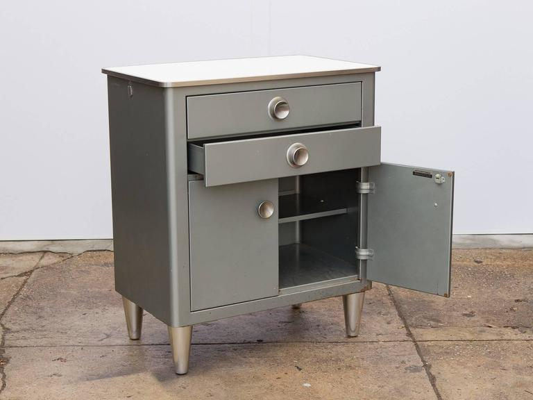Small Modern Industrial Storage Cabinet In Excellent Condition For Sale In Brooklyn, NY