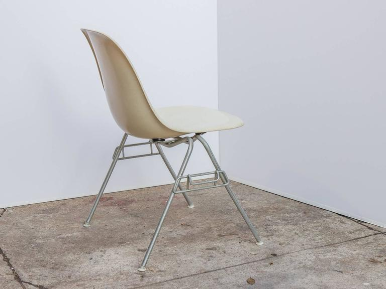 Eames for Herman Miller Parchment DSS Shell Chairs  In Excellent Condition For Sale In Brooklyn, NY