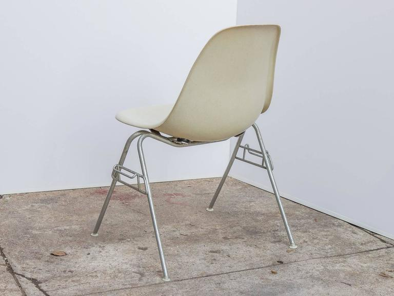 Molded Eames for Herman Miller Parchment DSS Shell Chairs  For Sale