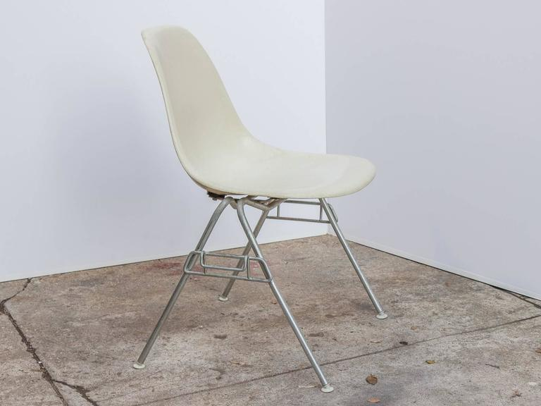 Mid-20th Century Eames for Herman Miller Parchment DSS Shell Chairs  For Sale