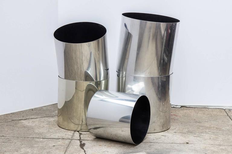 Polished Paul Mayen Aluminium Planters for Habitat
