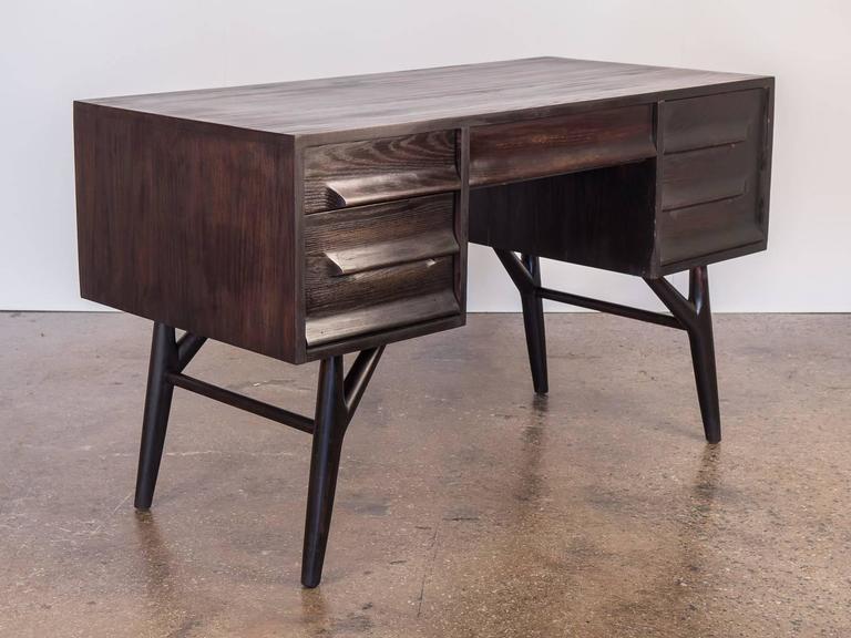 ebonized oak desk for vanleigh for sale at 1stdibs. Black Bedroom Furniture Sets. Home Design Ideas