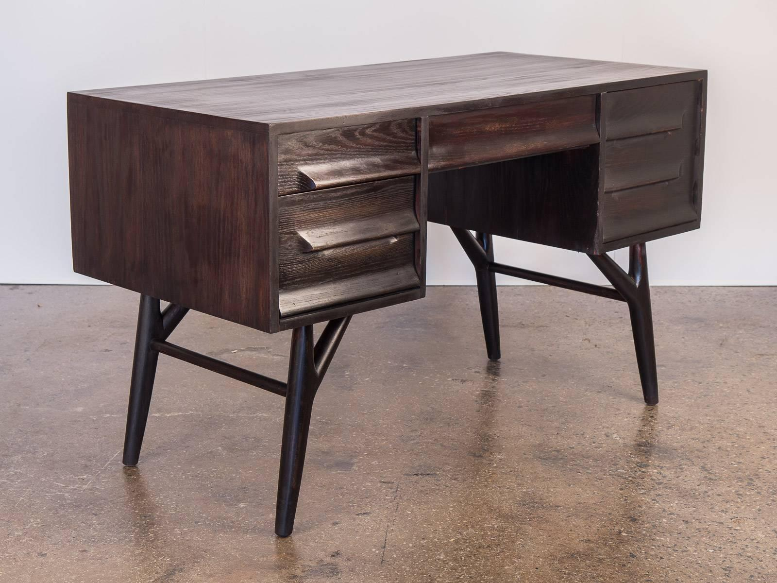 Ebonized Oak Desk For Vanleigh For Sale At 1stdibs