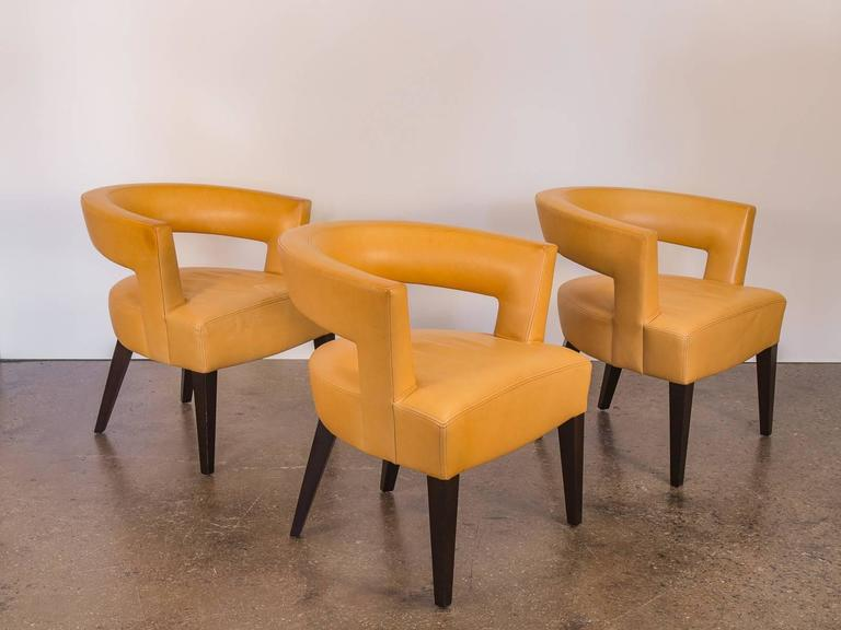 Set Of Three Dakota Jackson Ringback Chairs At 1stdibs