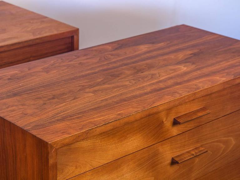 Pair of Mid-Century Modern Walnut Dressers For Sale 1