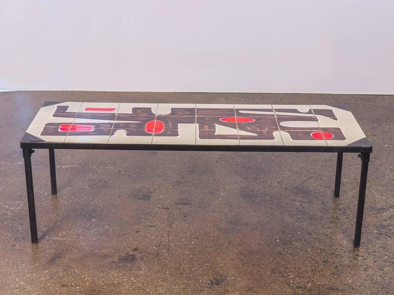 Attirant Belgian Tile Top Coffee Table. Beautiful Mid Century Modern Coffee Table  With Inlaid