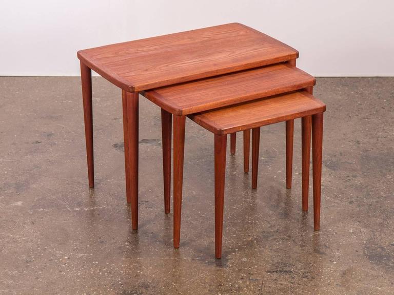 Scandinavian Modern Teak Nesting Tables At 1stdibs