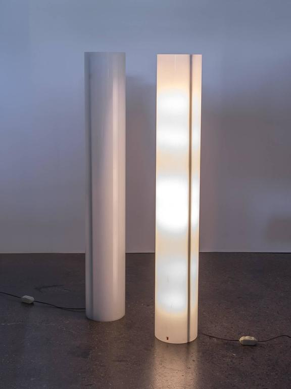 Pair Of Column Floor Lamps By Paul Mayen At 1stdibs