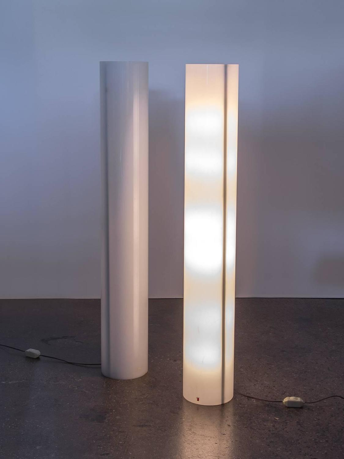 Pair of column floor lamps by paul mayen at 1stdibs aloadofball Images