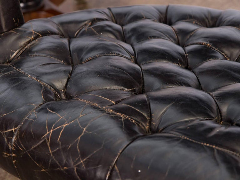 Pair of Edward Wormley Dunbar Tufted Swivel Chairs For Sale 3