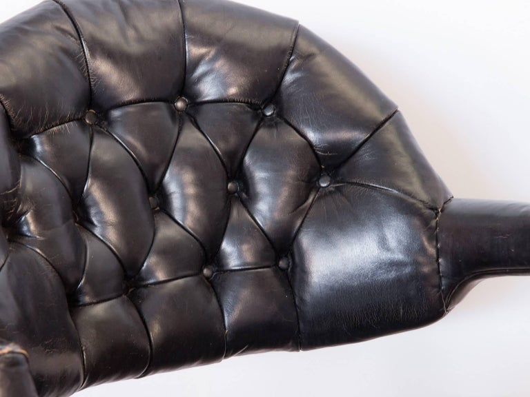 Pair of Edward Wormley Dunbar Tufted Swivel Chairs For Sale 1