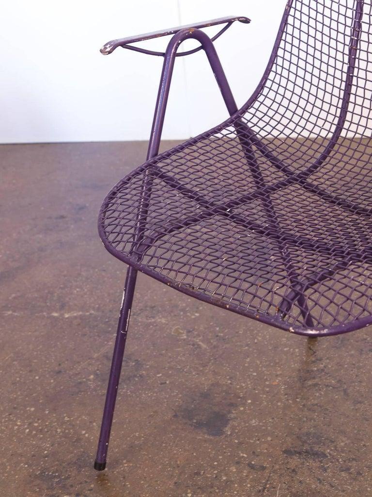Purple Patio Chair Seat Cushions: Set Of Six Purple Woodard Garden Armchairs For Sale At 1stdibs