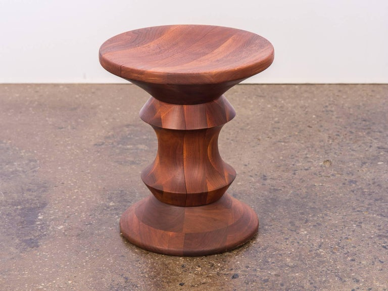 Eames Time Life Walnut Stool A At 1stdibs