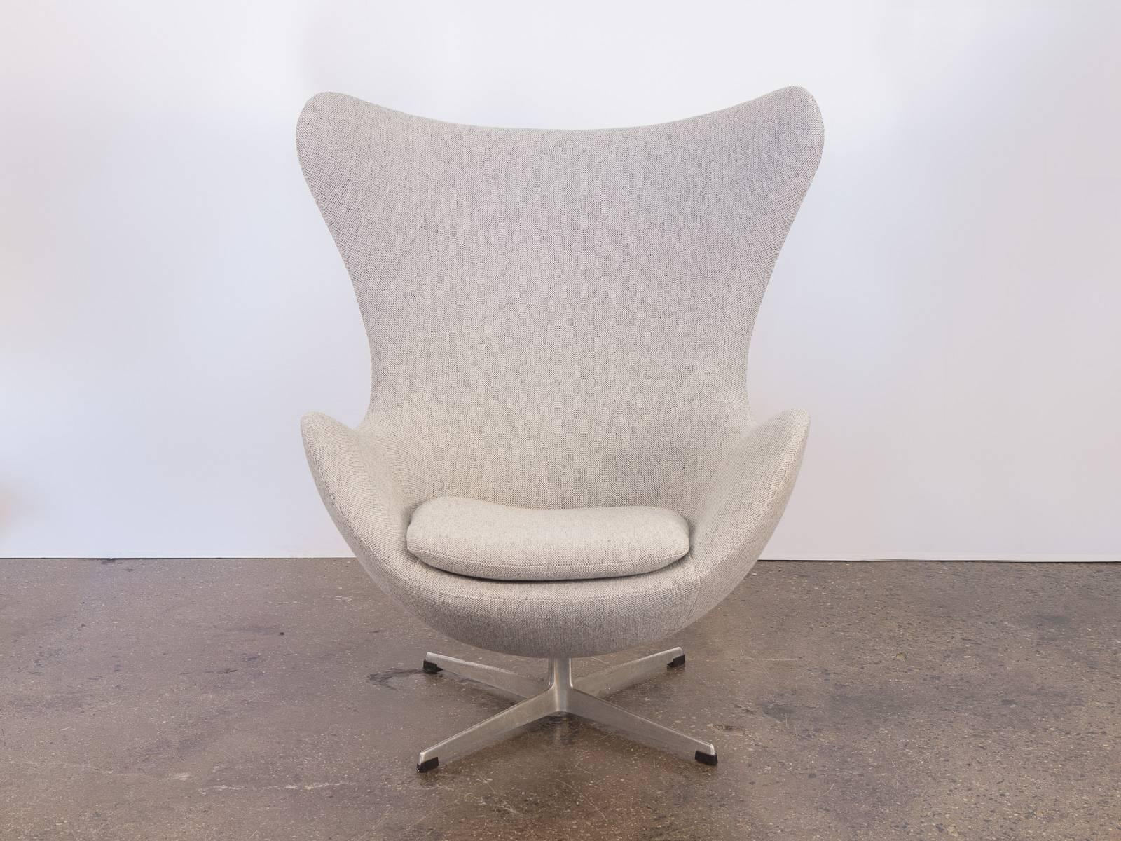 The Iconic Egg Chair And Matching Footstool Designed By Arne Jacobsen In  1958. Our Chair