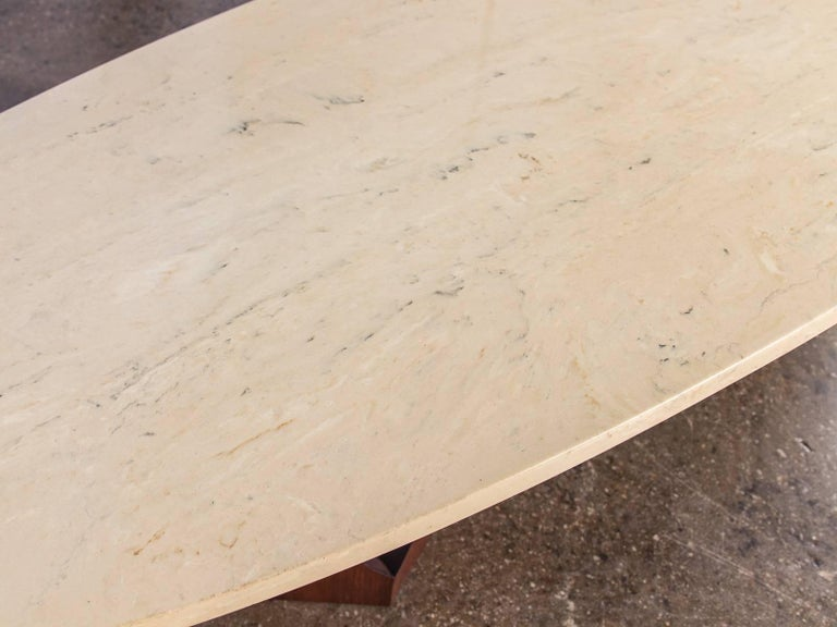 Harvey Probber Travertine Coffee Table For Sale 1