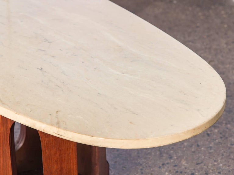 Mid-20th Century Harvey Probber Travertine Coffee Table For Sale