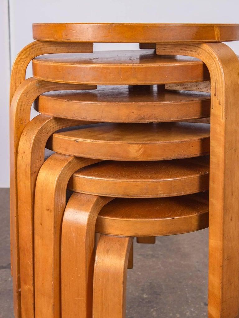 Alvar Aalto Model 60 Stools for Finsven 2